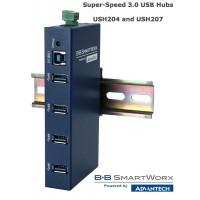 USH204 and USH 207: Four & Seven Port Super-Speed 3.0 USB Hubs
